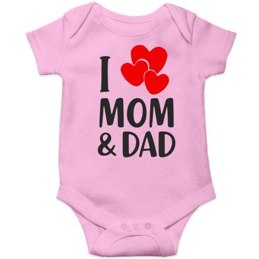 I-Love-Mom-&-Dad-Loving-Parents-Baby-Romper--Pink