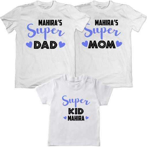 Super-Family-Combo-With-name-Customization-Matching-T-Shirt-White