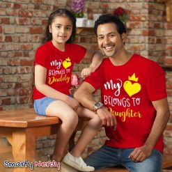 Valentine Dad & Daughter Family Combo T Shirt