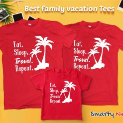 Eat Sleep Travel Beautiful Travel Loving Family Combo T Shirt