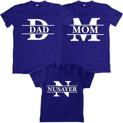 Wonderful-Loving-Family-Combo-T-Shirt-Blue