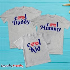 Cool Daddy Cool Mommy Cool Kid Family Combo T Shirt