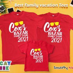 Cox's Bazar Family Tour Special Design Combo T Shirt