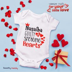 guilty of stealing heart baby romper