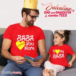 Dad Daughter Lovely Combo Tshirt