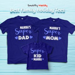 Super Family Combo With name Customization Matching T Shirt