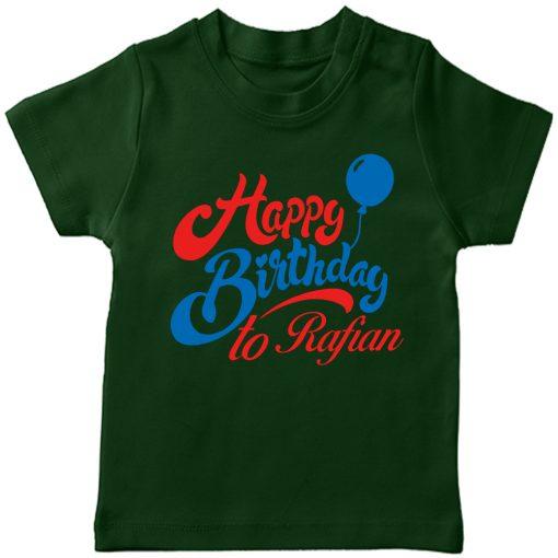Birthday-Beautiful-New-Design-Kids-Tshirt-Green