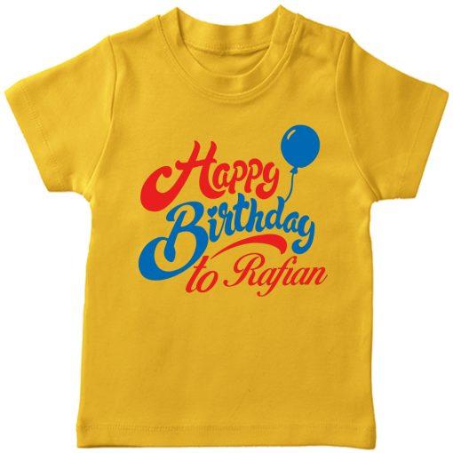 Birthday-Beautiful-New-Design-Kids-Tshirt-Yellow