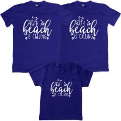 The-Beach-Is-CALLING-Family-Combo-T-Shirt-Blue