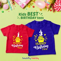 Birthday Customized name With Cupcake T Shirt