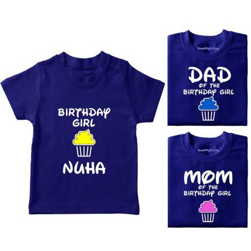 Cupcake-Family-birthday party tshirt combo-blue