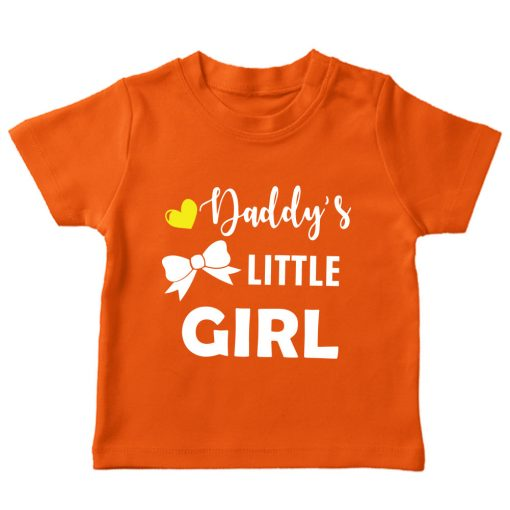 Daddy's-little-girl-orange tshirt