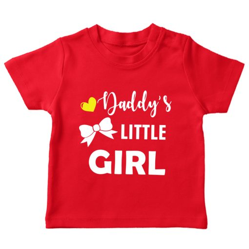 Daddy's-little-girl-red tshirt