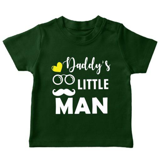 Daddys-little-man-green tshirt
