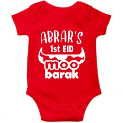 Unique-Horn-Eid-Baby-Romper-Red