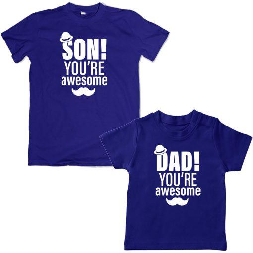 awesomedadson.blue tshirt