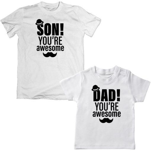 awesomedadson.white tshirt