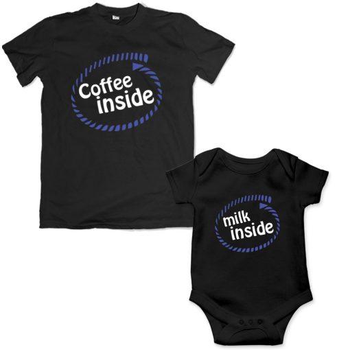 coffee inside father son mathing black tshirt bangladesh